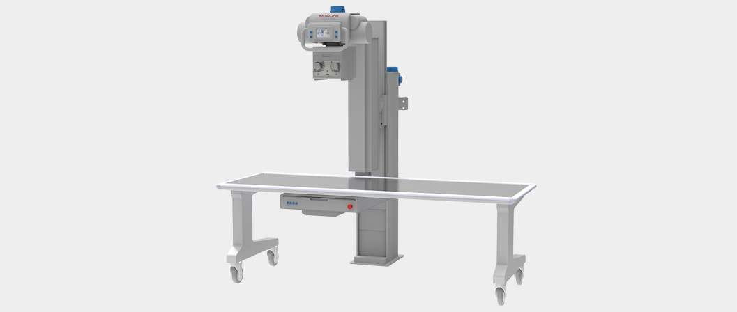 URS Straight-arm unit with table